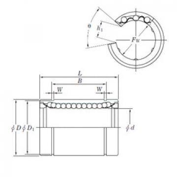Linear Bearings SESDM40 OP KOYO