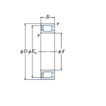 Full NSK cylindrical roller bearing NCF2968V