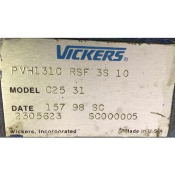 Rebuilt Suriname Vickers PVH131C RSF 3S 10 MODEL C25 31 W/ WARRANTY