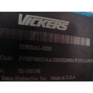 VICKERS Bahamas PVH074 VARIABLE DISPLACMENT PUMP PVH074R01AA10H002000AB010A