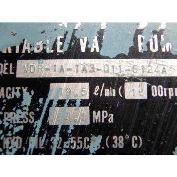 NACHI Guam VARIABLE VANE PUMP_VDR-1A-1A3-Q11-6124A_VDR1A1A3Q116124A - USED