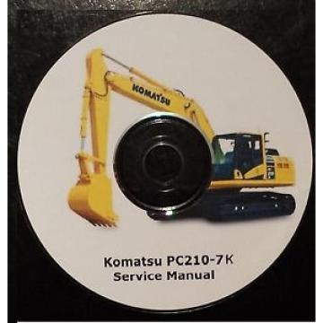 KOMATSU Uruguay  PC210-7K EXCAVATOR SERVICE MANUAL ON CD *FREE POSTAGE*