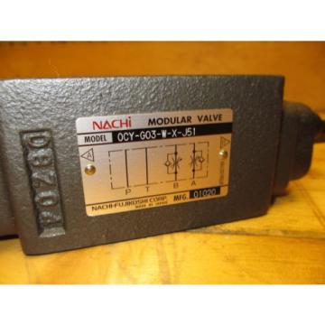 Nachi Bahrain 0CY-G03-W-X-J51 Modular Hydraulic Valve OCY-G03-W-X-J51