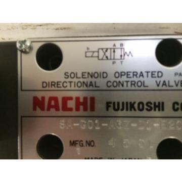 D03 Kenya 4 Way 4/2 Hydraulic Solenoid  Nachi SA-GO1-A3Z-D1-E20 12 VDC