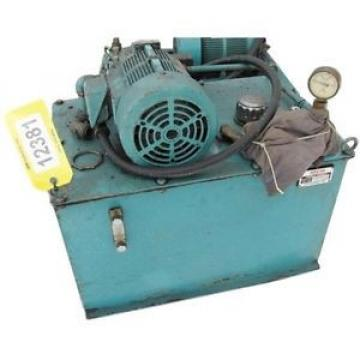 USED Central 2HP NACHI VARIABLE VANE HYDRAULIC PUMP PACKAGE - SERIES VDR
