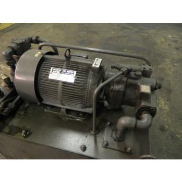 Nachi Nauru 3 HP 22kW Complete Hyd Unit w/ Tank,# S-3382-6, PVS-1B-19N1-2408B Used