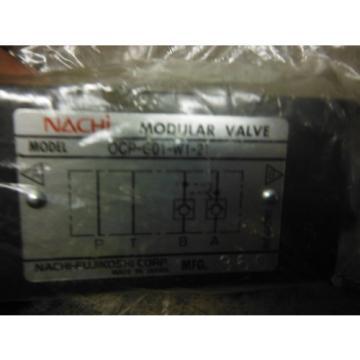 NACHI Mozambique MODULAR VALVE OCP-G01-W1-21 ~ origin no box