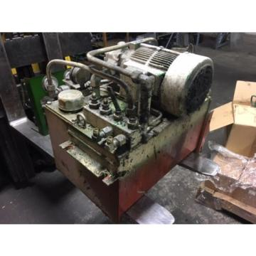 Nachi PuertoRico 2 HP 15kW Complete Hyd Unit, VDR-1B-1A2-21, UVD-1A-A2-15-4-1849A Used
