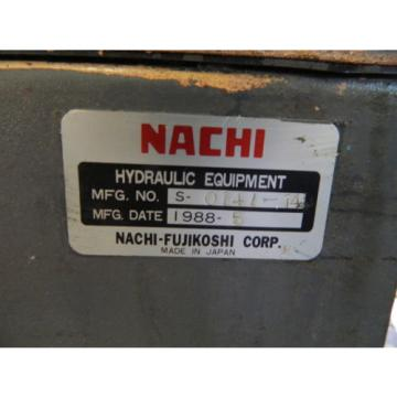 Nachi Mozambique  3 HP 22kW Complete Hyd Unit w/ Tank, # S-0141-14, 1988, Used, WARRANTY