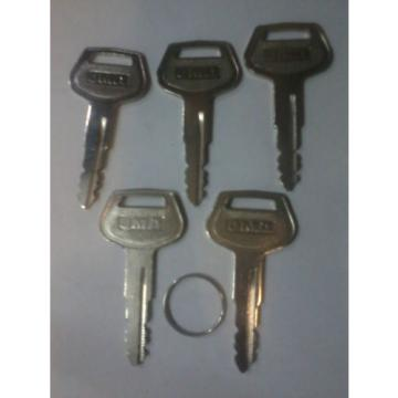 5X Solomon Is  FIVE 787 Komatsu Key's for  Plant Equipment Heavy Duty fast dispatch get them