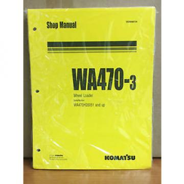Komatsu Haiti  WA470-3 Wheel Loader Shop Service Repair Manual (WA470H20051 & up)
