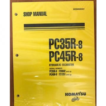 Komatsu Iran  Service PC35R-8, PC45R-8 Shop Manual NEW