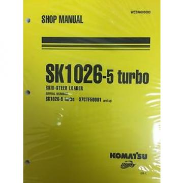 Komatsu Luxembourg  Service SK1026-5 TURBO SHOP REPAIR Manual