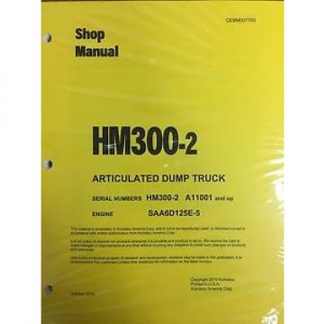 Komatsu Samoa Western  HM300-2 Shop Service Manual Articulated Dump Truck