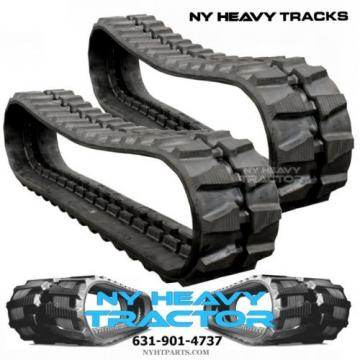 TWO Reunion  NY HEAVY RUBBER TRACKS FITS KOMATSU PC50MR-2 400X72.5X74 FREE SHIPPING