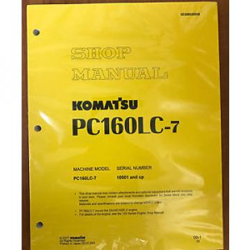 Komatsu Botswana  Service PC160LC-7 Shop Repair Manual NEW