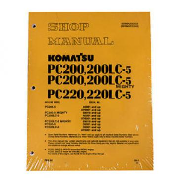 Komatsu Slovenia  Service PC200-5 Mighty, PC200LC-5 Shop Manual