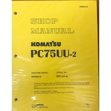 Komatsu Barbados  Excavator Service PC75UU-2 Shop Repair Manual