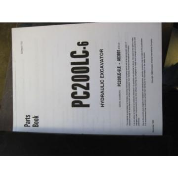 KOMATSU Cuinea  PC200LC-6 Excavator PARTS Catalog Book Manual