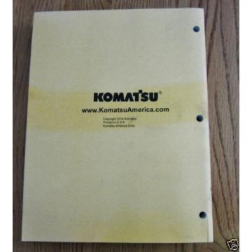 KOMATSU Denmark  HYDRAULIC EXCAVATOR PC360LC-11 PARTS BOOK SER # A35001 AND UP