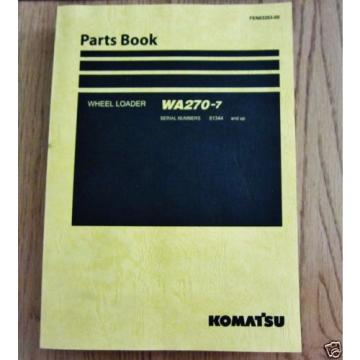 KOMATSU Hongkong  WHEEL LOADER WA270-7 PARTS BOOK SERIAL NUMB 81344 AND UP