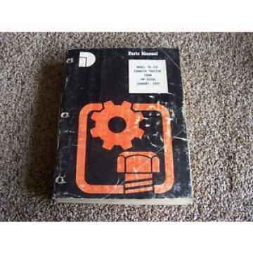 Komatsu France  TD-20G Crawler Tractor Factory Original Parts Catalog Manual Manual