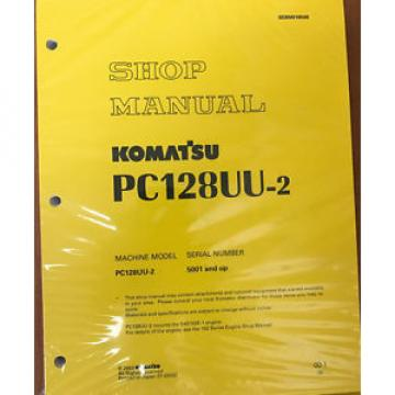 Komatsu Brazil  Service PC128UU-2 Shop Manual Book NEW