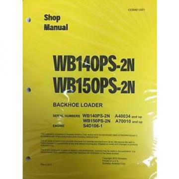 Komatsu Samoa Western  WB140PS-2N, WB150PS-2N Backhoe Service Shop Manual