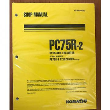 Komatsu Egypt  Service PC75R-2 Excavator Shop Manual NEW #1