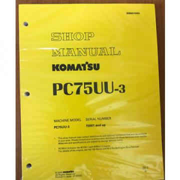 Komatsu Solomon Is  Service PC75UU-3 Excavator Shop Repair Manual