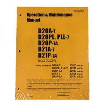 Komatsu Samoa Western  D20A-7 Dozer Operation & Maintenance Manual