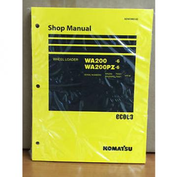 Komatsu Laos  WA200-6, WA200PZ-6 Wheel Loader Shop Service Repair Manual