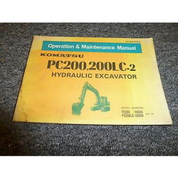 Komatsu Bahamas  PC200-1 200LC-2 Hydraulic Excavator Owner Operation Manual