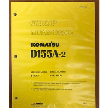 KOMATSU Mauritius   D155A-2 SHOP MANUAL 50001-UP