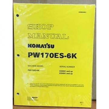 Komatsu United States of America  Service PW170ES-6K HYDRAULIC Excavator Shop Manual NEW REPAIR