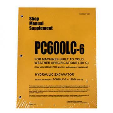 Komatsu Luxembourg  Service PC600LC-6 COLD SPEC Repair Manual