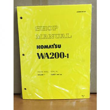 Komatsu United States of America  WA200-1 Wheel Loader Shop Service Repair Manual