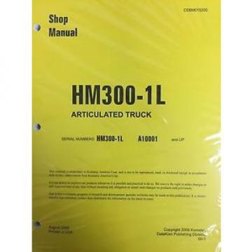 Komatsu Moldova,Republicof HM300-1L Shop Service Manual Articulated Dump Truck