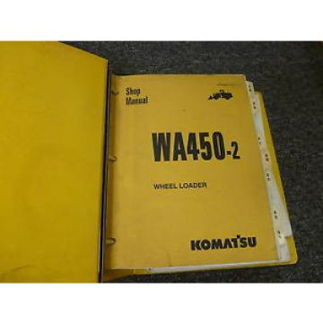 Komatsu Brazil  WA450-2 Wheel Loader Shop Service Repair Manual S/N 25001-Up