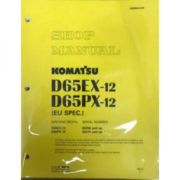 Komatsu Denmark D65EX-12, D65PX-12 Dozer Crawler Tractor Bulldozer Shop Service Manual