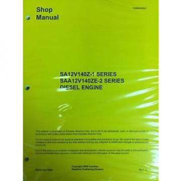 Komatsu Cuinea  SA12V140-1 Series Engine Factory Shop Service Repair Manual