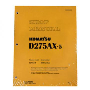 Komatsu Barbuda  D275AX-5 Service Repair Workshop Printed Manual