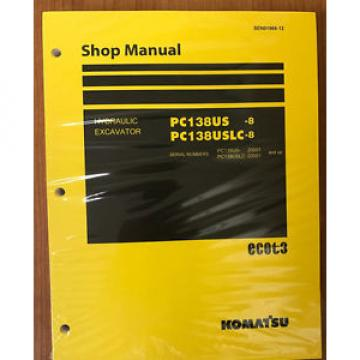 Komatsu Niger  PC138USLC-8 PC138US-8 Service Repair Printed Manual