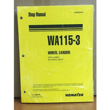 Komatsu France  WA115-3 Wheel Loader Shop Service Repair Manual