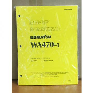 Komatsu Burma  WA470-1 Wheel Loader Shop Service Repair Manual