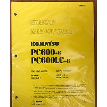 Komatsu Rep.  Service PC600-6, PC600LC-6 Service Repair Manual