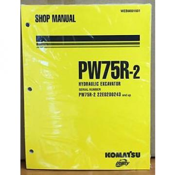 Komatsu Slovenia  Service PW75R-2 Excavator Shop Manual NEW REPAIR