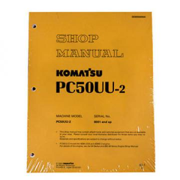Komatsu Burma  Service PC50UU-2 Excavator Shop Repair Manual