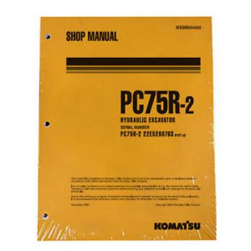 Komatsu Samoa Western  Service PC75R-2 Excavator Shop Manual NEW #1