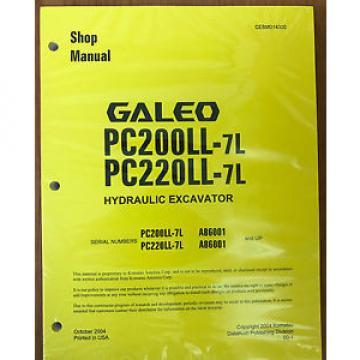 Komatsu Azerbaijan PC200LL-7L, PC220LL-7L Hydraulic Excavator Shop Repair Service Manual
